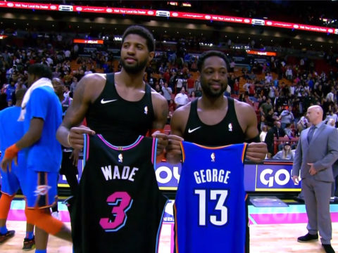 Paul George and Dwyane Wade trade jerseys, melt our hearts