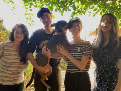 Anastasia, Joey, Ariana & Agata + pup friend