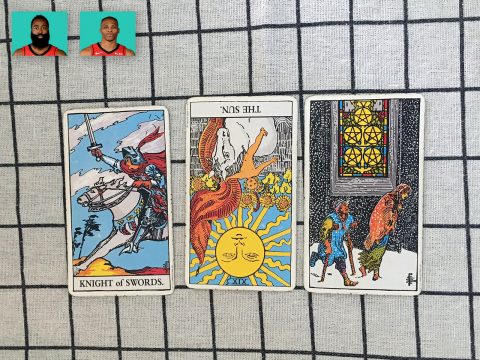 Tarot spread for James Harden & Russell Westbrook