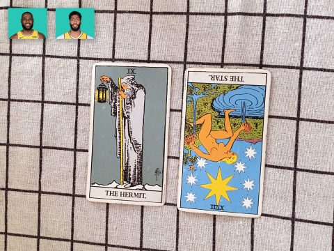 Tarot spread for LeBron James & Anthony Davis