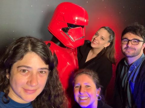 Anastasia, Katelyn, Agata, Andy & Sith Trooper